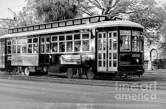 Canal Streetcar 2019-BW by Kathleen K Parker