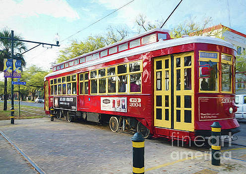 Canal Streetcar - Digital Painting by Kathleen K Parker
