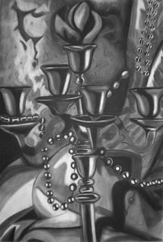 Candelabra Still Life by Candace Barnett
