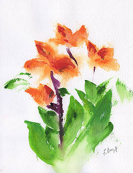 Cannas Abstract by Frank Bright
