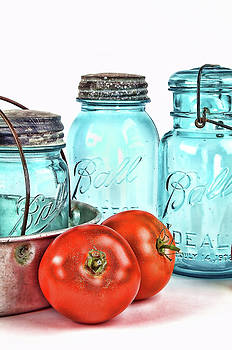 Canning Tomatos by Vicki McLead