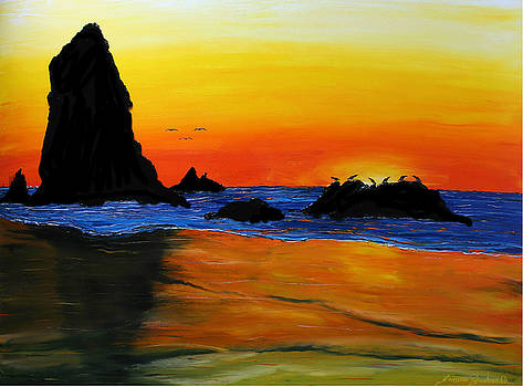 Cannon Beach At Sunset #25 by Portland Art Creations