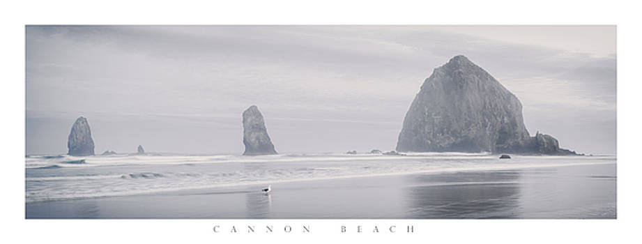 Cannon Beach Haystack Poster by Chad Tracy