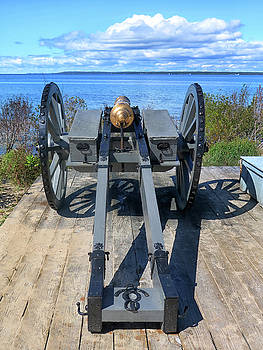 Cannon Over Lake Michigan by Dave Mills