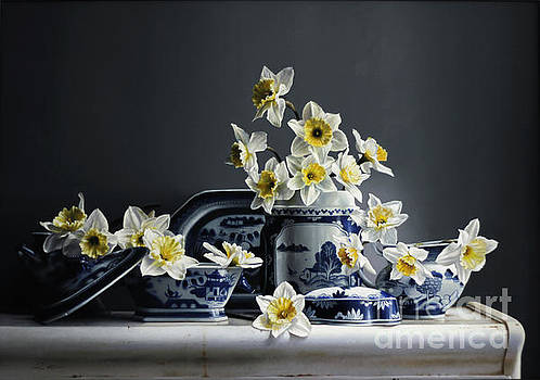 Canton With Daffodils by Larry Preston