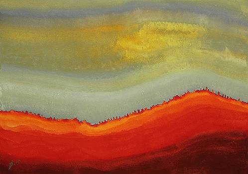 Canyon Outlandish original painting by Sol Luckman