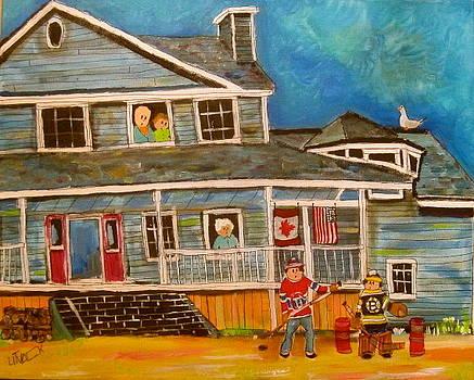 Cape Breton Hockey Fans by Michael Litvack
