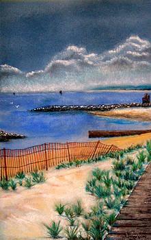 Cape Charles Beach by Judy Pearson