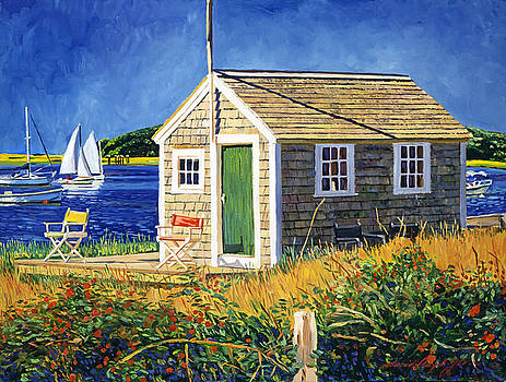 Cape Cod Boat House by David Lloyd Glover