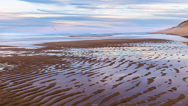 Cape Cod Low Tide Sunset by Bill Wakeley