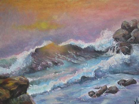 Cape Cod Waves by Lyn Vic
