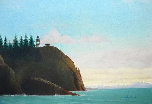 Cape Disapointment Lighthouse by Brenda Bliss