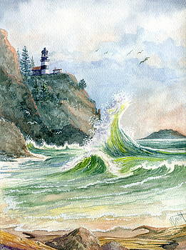 Cape Disappointment Lighthouse by Marilyn Smith