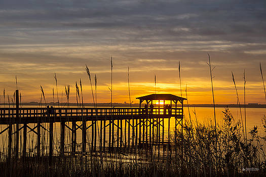 Cape Fear Sunset Fort Fisher by Phil Mancuso