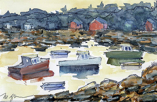 Cape Porpoise Harbor by Mary Byrom