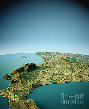 Cape Town 3D View South-North Natural Color by Frank Ramspott