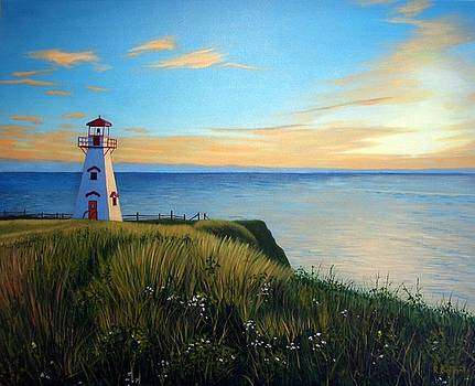 Cape Tryon Lighthouse by Rick Gallant