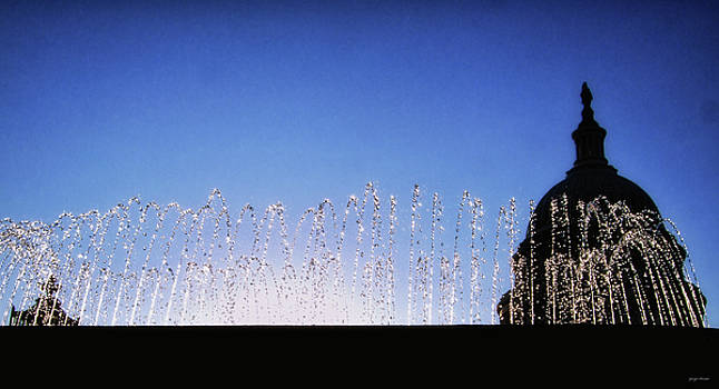 Capitol Building Fountain 001 by George Bostian