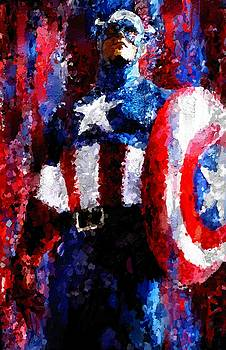 Captain America Signed Prints available at laartwork.com Coupon Code KODAK by Leon Jimenez