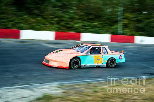 Car 15 in the lead. by Wayne Wilton