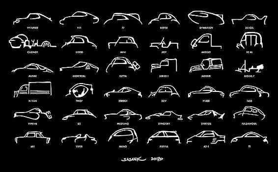 Car Icons Black by Sasank Gopinathan