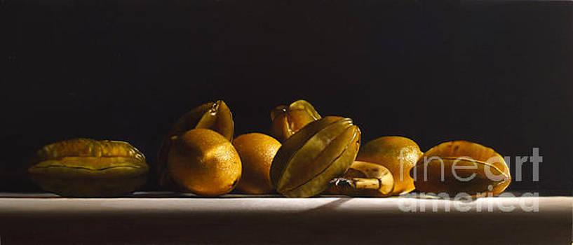 Carambolas,lemons And Banana by Larry Preston