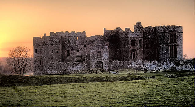 Steve Purnell - Carew Castle Coral Sunset