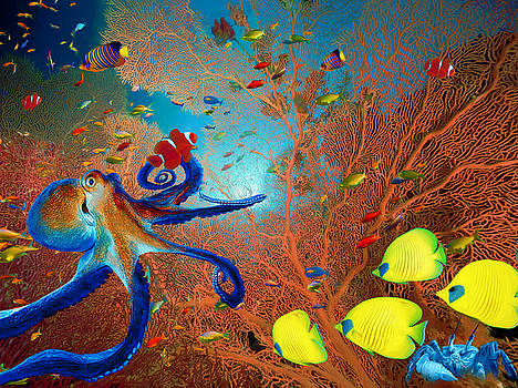 Caribbean Coral Reef by Sandra Selle Rodriguez