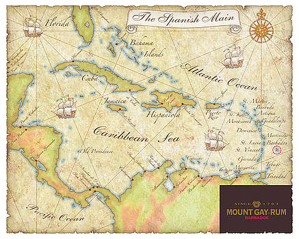 Caribbean Map II by Unknown
