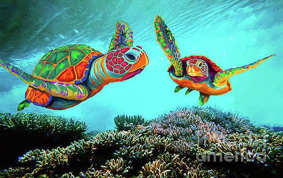 Caribbean Sea Turtles by Sandra Selle Rodriguez