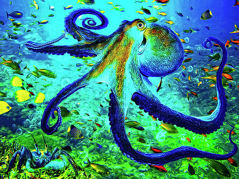 Caribbean Tropical Reef by Sandra Selle Rodriguez