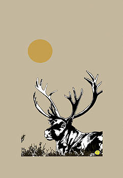 Caribou, Caribu, Reindeer by Robert Breton