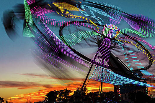 Carnival Ride Sunset by Steven Bateson