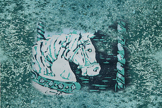 Carousel Horse Aquamarine by Lyndsey Hatchwell
