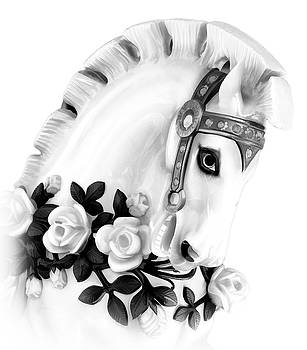 Carousel Horse Roses by Athena Mckinzie