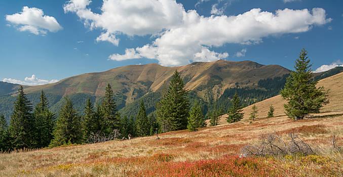 Carpathian Mountains in sunny day by Sergey Ryzhkov