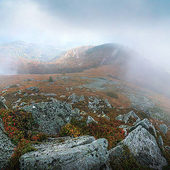 Carpathian Mountains in the clouds by Sergey Ryzhkov