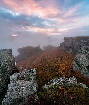 Carpathians mountains in clouds by Sergey Ryzhkov