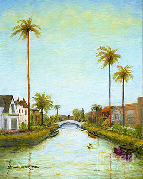 Carroll Canal Venice California by Jerome Stumphauzer