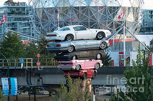 Cars in the air by Wayne Wilton