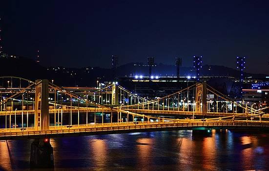 Carson Bridge at Night by William Bartholomew