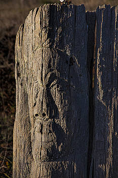 Carved Fence Post by Garry Gay