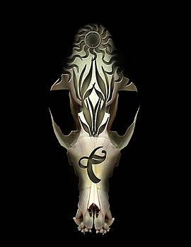 Carved Skull 2 by Julie Rodriguez Jones