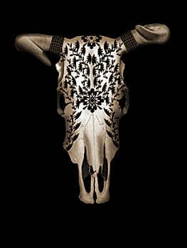 Carved Skull by Julie Rodriguez Jones