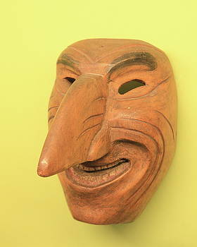 Carved Wooden Inca Mask by Roupen  Baker