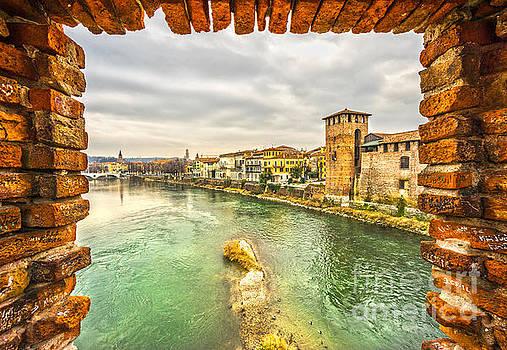 Castelvecchio in Verona - Italy  by Luciano Mortula