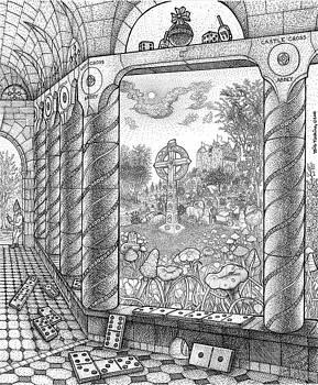 Castle Cross Abbey Cloister by Bill Perkins