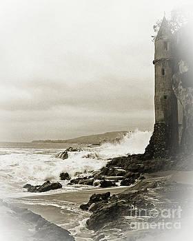 Castle Laguna Beach Sepia by Cheryl Del Toro