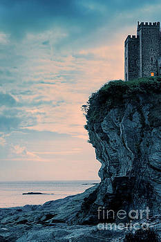 Castle On A Cliff Overlooking The Sea by Lee Avison