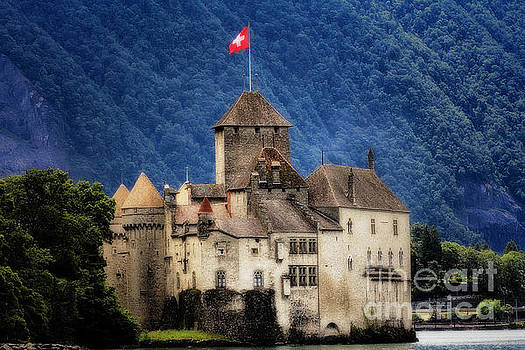 Castle on Lake Geneva by George Oze